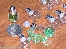 15 Wholesale Lot Glass small little bottles vial charm