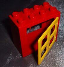 1 Lego Duplo Fenster rot Haus Puppenhaus  Sprossen Bauernhof  6168 9225