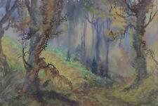 Andhré Stanislas Albert DES GACHONS (1871-1920)Paysage Ardentes Symbolisme météo