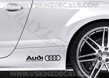 2x Audi Performance Premium Cast Skirt Decals Sticker TT RS S-line A3 A4 Quattro