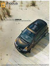Publicité Advertising 2005 Renault Modus Cosmopolitan