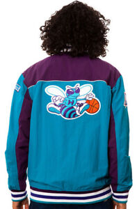 MITCHELL NESS CHARLOTTE HORNETS 1996 Authentic Warm Up Bogues Divac CURRY JACKET