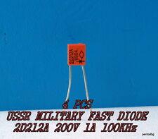 4PCS 2D212A / 2Д212А  KD 212A / 1A 200V 100KHz FAST DIODE  USSR MILITARY  NOS