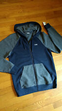 "NWT, $65 MSRP, Mens Vans ""Off the Wall"" Full Zip Zipper Sweatshirt Hoodie Jacket"