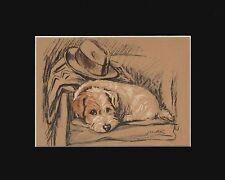 Vintage Sealyham Terrier Puppy Dog Print 1938 by Cecil Aldin 8X10 Mat WAITING!