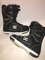 Men's DC 2012 Park Series Boot Snowboard Snow Boots Black White Size 8.5