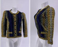 FENDI SWEATER Jacket Cardigan Knit Print Button Italy 40 XS