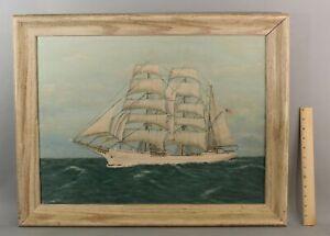 Gunnar Anderson Maritime Barque Eagle Sail Ship Oil Painting San Francisco