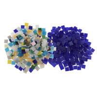 500pcs Assorted Multicolor Square Glass Mosaic Tiles Pieces for Art Crafts