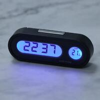 1 Pcs Car Electronic Clock Digital LCD Clock Temperature Auto Thermometer UK CJ