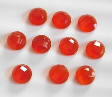 12.00 Cts 10 Pcs Natural Red Onyx Round Cut Lot Loose Gemstone 7 MM H-440