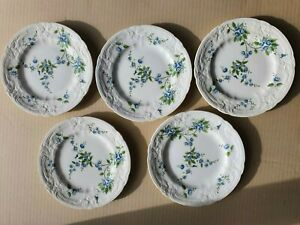 Coalport bread & butter plates. Tintern pattern. Fine bone china. 15.5cm/6 inch