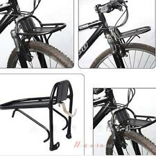 Aluminum Alloy Bike Bicycle Front Rack Luggage Shelf Panniers Bracket Black New
