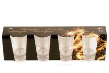 Set of 4 X Glass Shot Glasses 5CL Whisky Vodka Rum Cordials Glasses