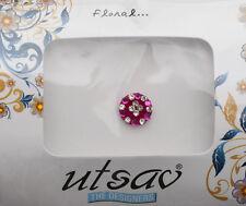 Bindi bijoux de peau front ht de gamme rond fleur strass 11mm rose ING B 3654