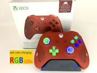 Limited Edition Sport Red Xbox One Controller w LED MOD iPhone Android PC