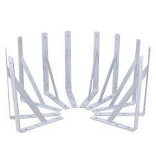 Steel Core 10pc Heavy Duty White Powder Coated Steel 12in x 8in Shelf Brackets