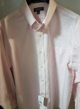 NWT Croft & Barrow Pink Wrinkle Resistant Long Sleeve Shirt Mens 17.5, 34/35 New