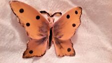 Designer Signed Pink and Black Beautiful Vintage Butterfly
