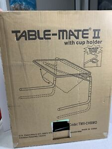 Table-Mate II Folding TV tray and Cup Holder with six Height Adjustments