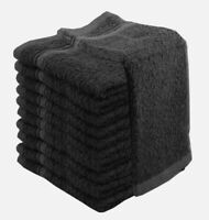 NEW HIGH QUALITY 100% COTTON FACE CLOTH TOWELS SILVER OR GREY PACK OF 12