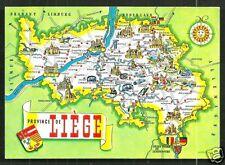 Map postcard Liège Coat of Arms Belgium Belgique