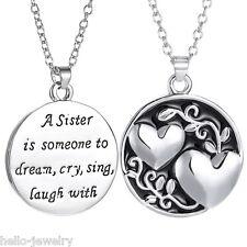 1 Damen Halskette Herz Kreuz Lebensbaum Puzzle Anhänger Modeschmuck #12