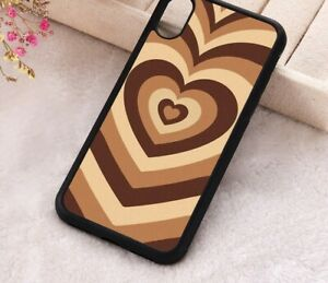 Coffee Heart Phone Case Latte Love Silicone 12 11 Pro Max 8 X XR XS Max Cover