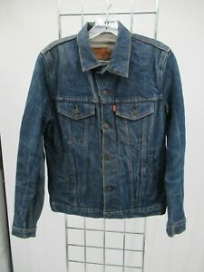 I7083 VTG Men's Levi's Button-Down Denim Trucker Jacket Size 36