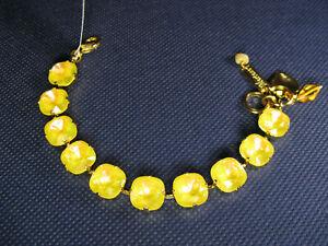 MARIANA BRACELET SWAROVSKI CRYSTALS LEMON TENNIS Yellow Gold PL Gift