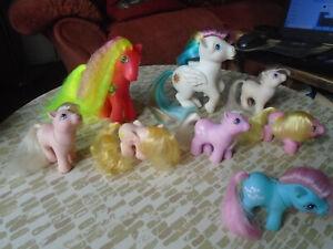 My Little Pony vintage G1 bundle x8 6 babies 2 adults Hasbro