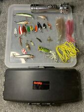 Vintage Fishing trip Rapala , Arbogast Hula Popper , Acme Lures Berkley Case Lot