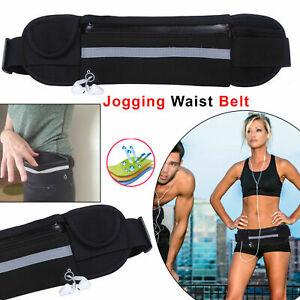 Waist Belt Bum Bag Waterproof Running Jogging Mobile Wallet Cash Pocket GYM UK