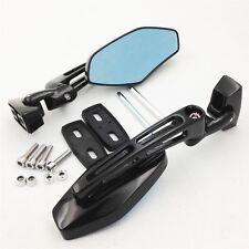 Black Racing Rearview Mirror For Honda Suzuki Kawasaki Cruiser Chopper Sports