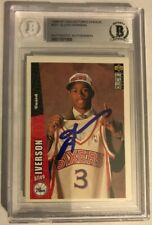 Allen Iverson Upper Deck Signature Rookie R/C #301 Graded Auto (Rare!)🔥