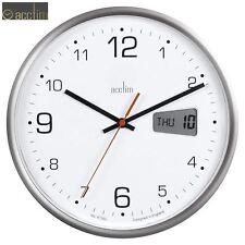Acctim Kalendar Bureau Numérique et Analogue Jour Date Horloge Quartz Mural 27cm