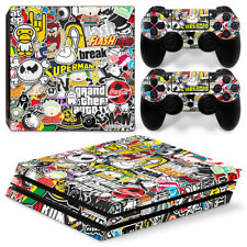 Funny Game Skin For playstation PS4 PRO Console Stickers & 2 Controllers Skin