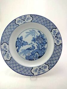 """Wood and Sons """"Yuan"""" England - Dinner Plate Blue and White"""