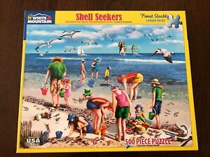 SHELL SEEKERS 500 piece White Mountain PUZZLE complete as shown  large pieces