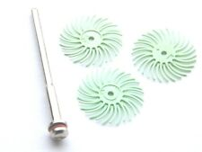 3m Green Radial Bristle Disc Set 4 Fire Scale-Art Clay Silver- Polishing Metals