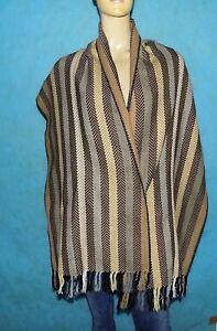 étole, écharpe GEORGES RECH tissus chaud, motif Géométrique EXCELLENT ETAT