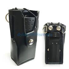Hard Leather Carrying Case For Motorola 2-Way Radio GP3688 GP3188 EP450 CP200