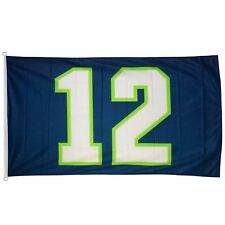 Seattle Seahawks Fan 12th man Flags 12 navy 3x5 feet
