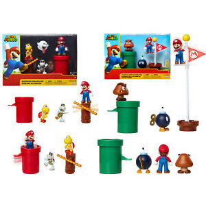 Nintendo Super Mario Action Figure Playsets Collectible Figures Display And Play