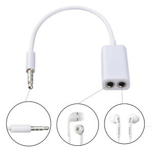 3.5 mm Y Splitter Cable Earphone Headphone Jack Male to Dual Double AUX Adapter