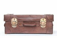 Leather Travel Suitcase Old Vintage Antique Home Decor Collectible J-99