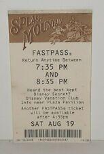 New ListingDisney Disneyland Theme Park Fastpass Fast Pass Splash Mountain Ride Attraction