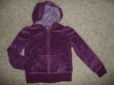 Greendog Girls velour velvet plum purple hoodie sz S 7-8
