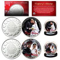 PRINCE HARRY & MEGHAN MARKLE Official Royal Wedding Portraits RCM 2-Coin Set