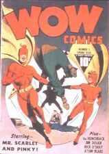 Wow Comics #5 Photocopy Comic Book, Mr. Scarlet, Atom Blake
